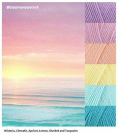 Crochet Sunset on the Beach color palette