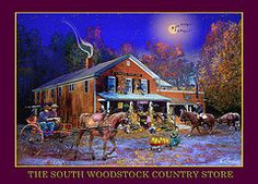 Featured Art - Fall at the South Woodstock Country Store by Nancy Griswold