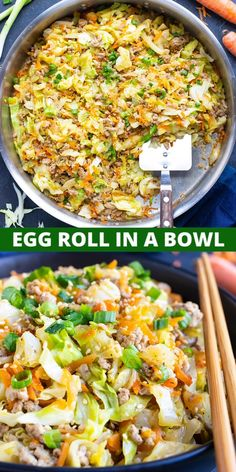 Whole Food Recipes, Cooking Recipes, Recipes Dinner, Ham Recipes, Healthy Cabbage Recipes, Recipes With Cabbage, Whole 30 Easy Recipes, Healthy Recipes For One, Shredded Cabbage Recipes