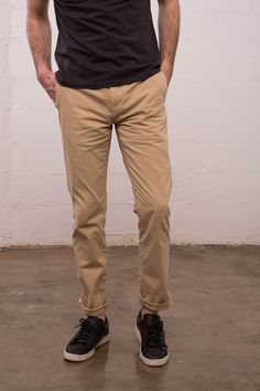 e3f8f8d1c5 A classic fitting super soft cotton chino that is slightly tapered from the  knee down.
