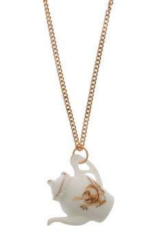 Teapot Necklace. $23  Modcloth