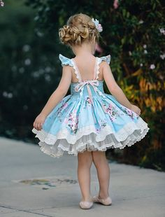 The back can be adjusted and back bodice is fully elasticized. Pettiskirt shown with this Little Girl Dresses, Girls Dresses, Flower Girl Dresses, Kids Outfits Girls, Girl Outfits, Baby Girl Fashion, Kids Fashion, Trendy Fashion, Rose Dress