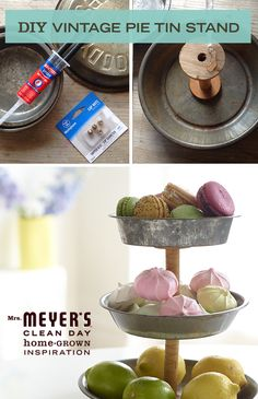 This easy-as-pie DIY shows you how to transform vintage pie stands into a charming display. When you're done, use it to display snacks and treats at your next party, or bring it to the bedroom and use it to organize and show off your jewelry collection.