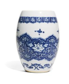 A BLUE AND WHITE OVOID JAR MING DYNASTY, CHONGZHEN PERIOD