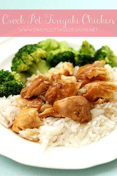 Super Easy Crock Pot Teriyaki Chicken #crockpot #slowcooker #recipe