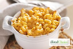 Total Choice Baked Mac and Cheese: This dish is the ultimate comfort food, crispy on the top and creamy underneath. Eat this recipe on the Total Choice 1600-calorie...