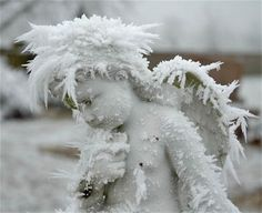 Funeral monument covered in hoar frost Photo credit: Fred Hurst, 2007