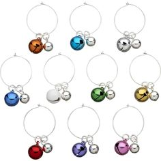 christmas wine glass charms great gift idea wine glass charms pinterest christmas wine glasses christmas wine and wine - Christmas Wine Charms