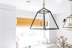 Hudson Valley Lighting Webster pendants | One Room Challenge | Design by Creekwood Hill | Photo by Tem Photography