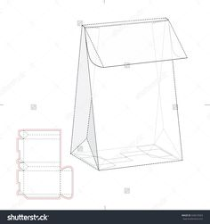 Tapered Box With Die Line Template Stock Vector Illustration 320619563 : Shutterstock