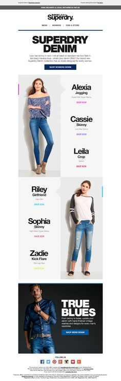 Superdry Denim Email / Newsletter Design