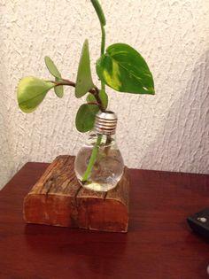 Vasinho feito com lampada usada.