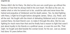 Remus Lupin and James Potter. Two best friends that died the same death