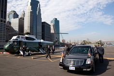 President Barack Obama walks from Marine One to the motorcade at the Wall Street landing zone in New York, N.Y., May 13, 2010