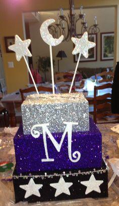 Sweet 16 card box Stars and moon theme