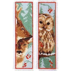 Owl & Roe Bookmarks Counted Cross-Stitch Kit - Herrschners