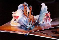 Beauty and the beast: And other fantastic fairy tales: A pop-up book with four miniature storybooks. [JPG 80K] By Ron Van der Meer. Fran Thatcher, illustrator. Manufactured in China. New York, Random House, 1994
