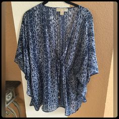 MICHEAL KORS SHIRT Worn one one time. Gorgeous with jeans. In excellent condition. Michael Kors Tops Blouses