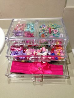Great for keeping all your girls pretty hair accessories :)