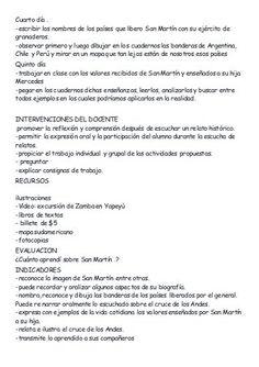 Secuencia didáctic San Martin Santos, Socialism, Social Science, Types Of Sentences, August 17