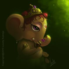 Art work done by me, Dedicated to Lord Ganesha.