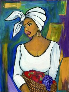 African Woman Wall Art - Painting - Juju by Diane Britton Dunham Black Women Art, Black Art, Afrique Art, African Art Paintings, Caribbean Art, Art Africain, African American Art, Love Art, Female Art