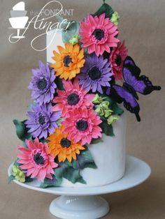 Gerber Daisy Butterfly Cake