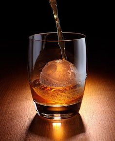 A Death Star ice cube maker