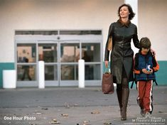 Nina Yorkin (Connie Nielson) and her son Jake (Dylan Smith) leave Sav-Mart (a parody of Wal-Mart)..