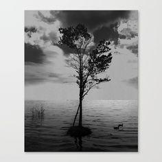 Small Tree on a Tiny Island Canvas Print by georgemichaelart Fine Art Prints, Canvas Prints, Latest Generation, Small Trees, Stretcher Bars, Epson, My Arts, Museum, Hardware