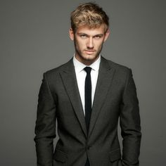 (Alex Pettyfer)   i like this hair & suit ... everything for K