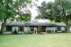 Real Life Rooms A Reimagined Ranch Exterior With Added Curb Eal Painted Brick