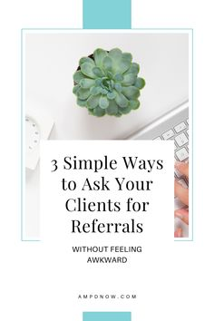 A crucial effort for any business is generating referrals. It's often inexpensive and gives you a head-start in the credibility department - which means you're immediately one step closer to getting a new customer. Head Start, Marketing Ideas, Simple Way, Closer, Effort, How To Get, Business, Store, Business Illustration