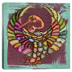 Maximilian San Eco Bird Canvas Print