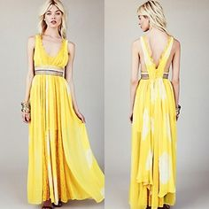 Yellow Maxi dress.  Free People