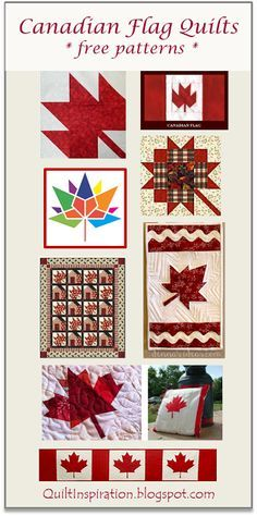 Happy Canada Day ( July In honor of the day, here are some free Canadian maple leaf quilt and table runner patterns! Flag Quilt, Patriotic Quilts, Patriotic Crafts, Quilt Blocks, Paper Piecing, Canadian Quilts, Canadian Flags, Quilts Canada, Canada Day Fireworks