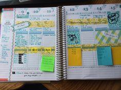 Erin Condren Life Planner: My crazy weekly spread scatteredfashionista.wordpress.com