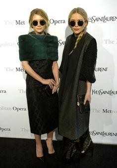 Celebrity Street Style: The 10 Most Stylish Stars - Mary-Kate and Ashley Olsen wearing round sunglasses | StyleCaster