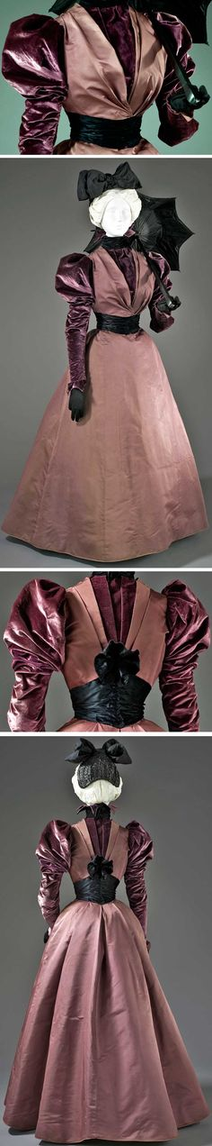 House of Rouff, Paris, ca. 1897. Silk twill and silk cut velvet on twill foundation. Los Angeles County Museum of Art