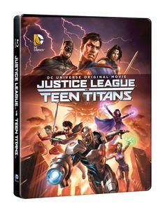 La Ligue des justiciers vs les Teen Titans Boîtier SteelBook Blu-ray NEUF - NEW