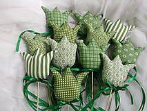 Tulipány  zelené-zápichy by J.M - SAShE.sk - Handmade Dekorácie