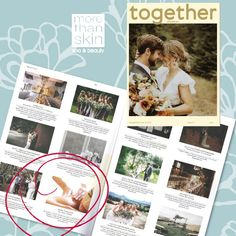 Another mag full of wedding inspiration is the gorgeous Together Journal, you'll spot us in the latest issue Latest Issue, Body Treatments, Aromatherapy, Massage, Facial, Spa, Wedding Inspiration, Skin Care, Journal