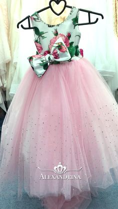 """Сollection of flower girls dresses by Alexandrina """"Trinity Ocean """" first communion and party dresses African Dresses For Kids, Dresses Kids Girl, Cute Dresses, Girl Outfits, Flower Girl Dresses, Kids Dress Wear, Kids Gown, Baby Girl Dress Patterns, Baby Dress Design"""