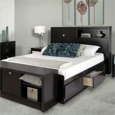 295 best bedroom furniture images on Pinterest   Bed furniture     Bed in Black