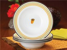 Little Hoot Pasta Bowls (Set of 4) by Rachael Ray at Food Network Store