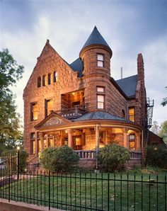 Capitol Hill Mansion Bed and Breakfast: 1891 restored Richardsonian Romanesque Victorian, Denver, Colorado Denver Colorado, Denver City, Beautiful Buildings, Beautiful Homes, Beautiful Dream, Beautiful Places, Second Empire, Victorian Architecture, Romanesque Architecture