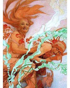 Alphonse Mucha art for the October 1922 edition of Hearst's International magazine Art And Illustration, Art Nouveau Prague, Alphonse Mucha Art, Art Nouveau Poster, Art Deco, Art For Art Sake, Klimt, Oeuvre D'art, Les Oeuvres