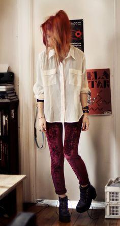 <3 velvet leggings