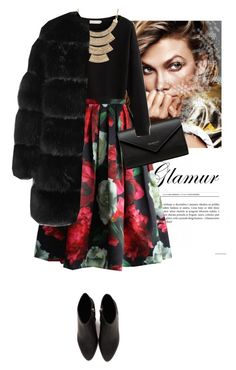 """Winter Glamour in Dark Florals"" by misty87 ❤ liked on Polyvore featuring Balenciaga, MOOD, Givenchy and Alexander Wang"