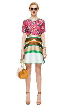 Striped Double-Face Flared Skirt by Ostwald Helgason - Moda Operandi